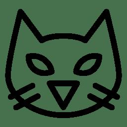 Black Cat Icon Line Iconset Iconsmind