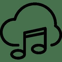 Cloud Music Icon Line Iconset Iconsmind