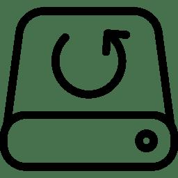 Data Backup Icon Line Iconset Iconsmind