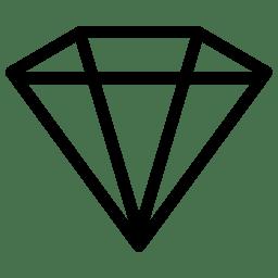 Diamond Icon Line Iconset Iconsmind