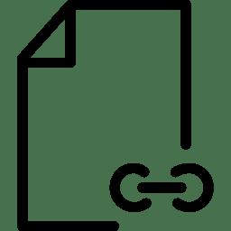 File Link Icon Line Iconset Iconsmind