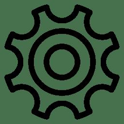 Gear 2 Icon Line Iconset Iconsmind