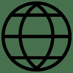 Globe Icon Line Iconset Iconsmind