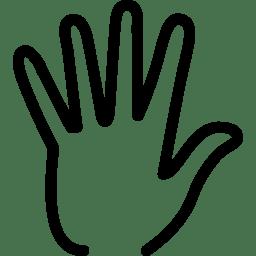 Hand Icon Line Iconset Iconsmind