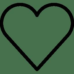 Heart 2 Icon Line Iconset Iconsmind
