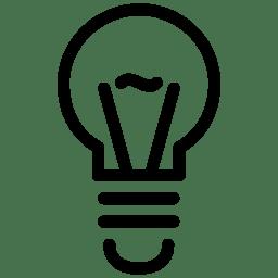 Light Bulb Icon Line Iconset Iconsmind