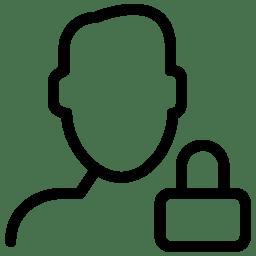 Lock User Icon Line Iconset Iconsmind