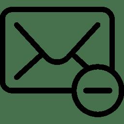 Mail Delete icon