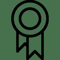 Ribbon 2 Icon Line Iconset Iconsmind