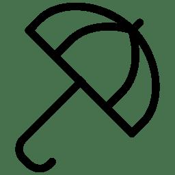 Umbrella 3 Icon Line Iconset Iconsmind