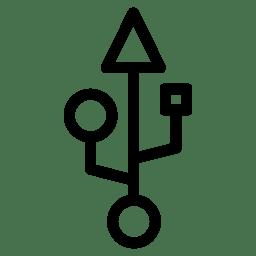 Usb Icon Line Iconset Iconsmind