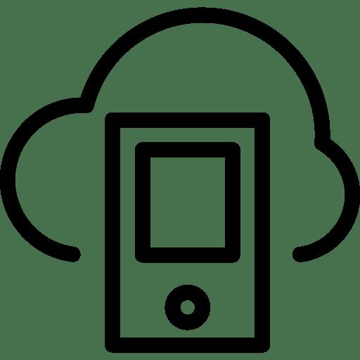 Cloud-Smartphone icon