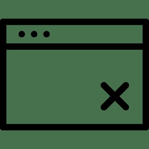 Delete-Window icon