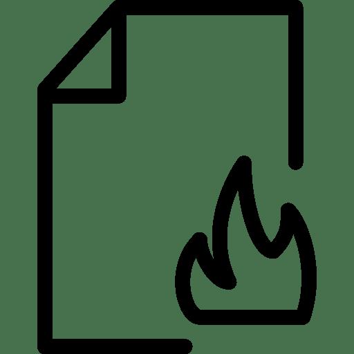 File Fire icon