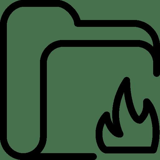 Folder Fire icon