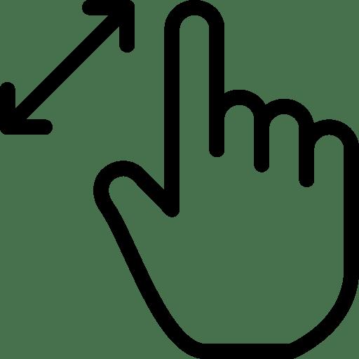 Zoom-Gesture icon