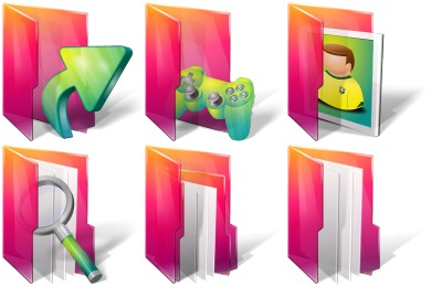 Aurora Folders Icons