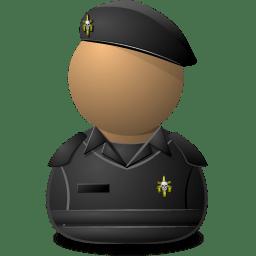 Elite Captain Black Shielded icon
