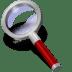 Search-red-dark icon