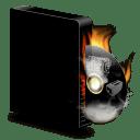 Cd burner burning icon