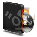Dvd burner firewire burning icon