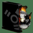 Dvd burner firewire burning icon