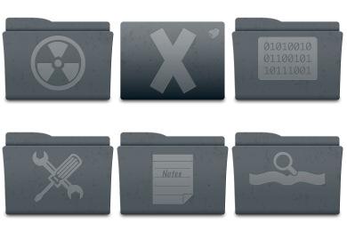Leox Graphite Icons