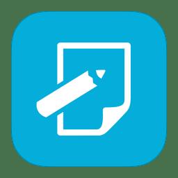 Metroui Apps Notepad Icon Ios7 Style Metro Ui Iconset Igh0zt