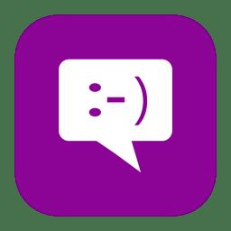 MetroUI Apps Windows8 Messaging icon