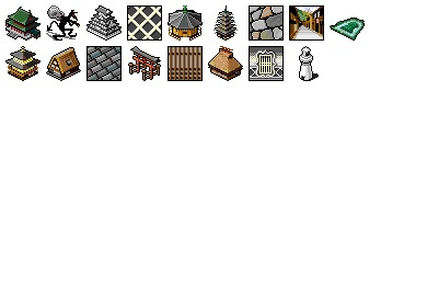 Japanic Historic Buildings Icons