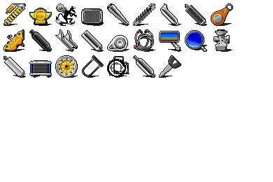Motor Cycle Parts Icons