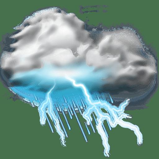 Thunder lightning storm icon