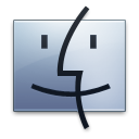 Finder graphite icon