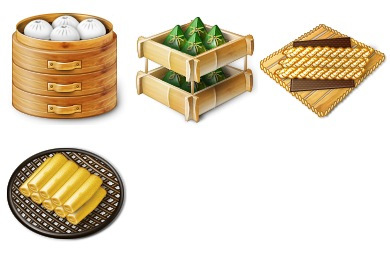 Chinese Traditional Food Icons