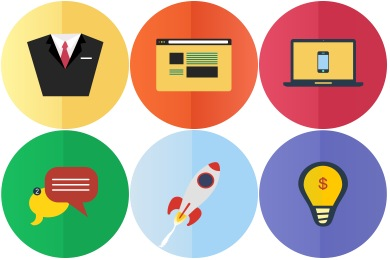 Services Flat Icons