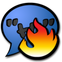 Chat hot icon