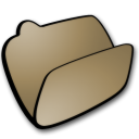 Folder brown open icon
