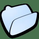 Folder lightblue open icon