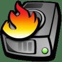 Harddrive burning icon