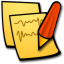 Stickies write icon