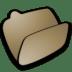Folder-brown-open icon