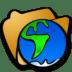 Folder-globe icon