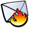 Email-spam-fire icon