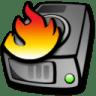 Harddrive-burning icon