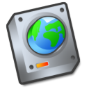 Harddrive network disabled icon
