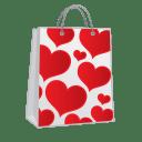 Shopping-bag-hearts icon