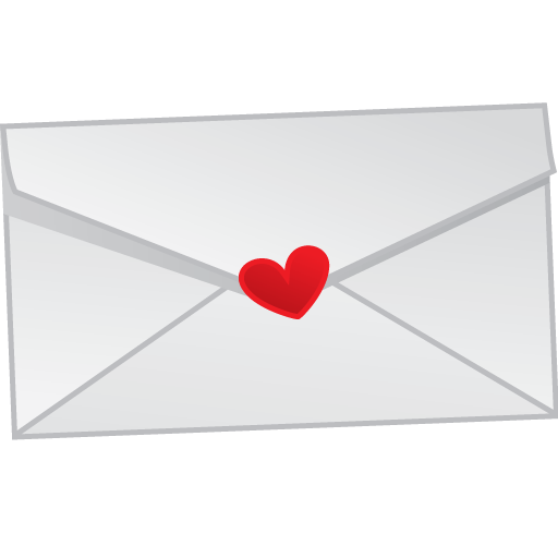 Love letter mail icon