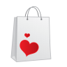 Shopping-bag-heart icon