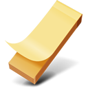 Yellow sticker icon