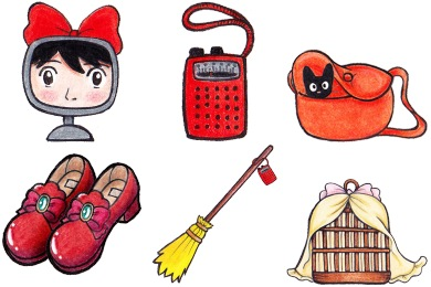 Kiki's Delivery Service Icons